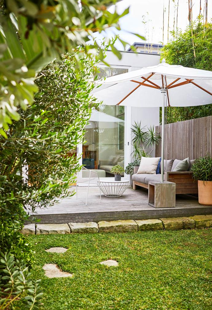 """With this size of area, you can make it look like a courtyard or a garden. This one feels like a garden"" says landscape designer Adam Robinson."