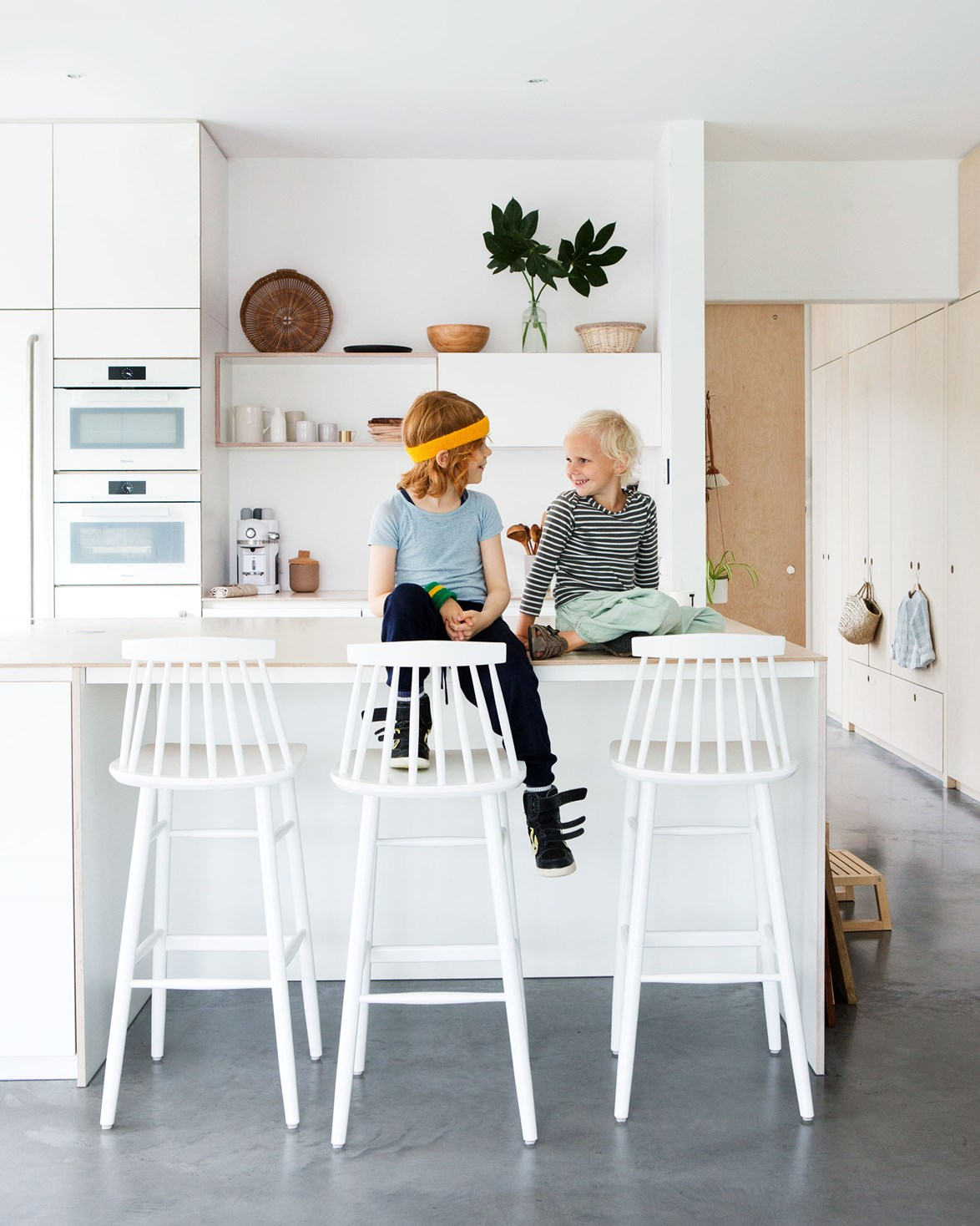 "This cosy, wooden house in the Netherlands combines [Scandi style with sustainable design](https://www.homestolove.com.au/scandinavian-eco-house-19205|target=""_blank"") through the use of sustainable materials and a mix of second-hand and custom-made furniture. *Photo:* Jeltje Fotografie"