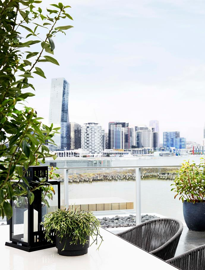 Views of Melbourne's CBD are visible from the outdoor terrace.
