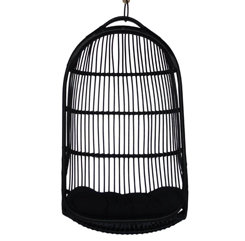 "Sunday Hanging Chair in Black, $510, [CLO Studios](https://clostudios.com.au/|target=""_blank""|rel=""nofollow"")"