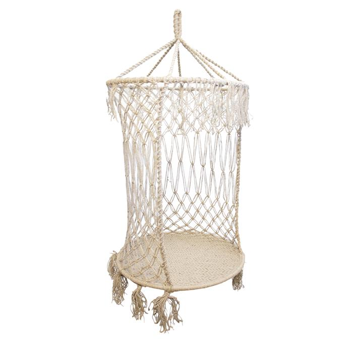 "Phana Hanging Chair, $709, [Zanui](https://fave.co/2yLxj1j|target=""_blank"")"