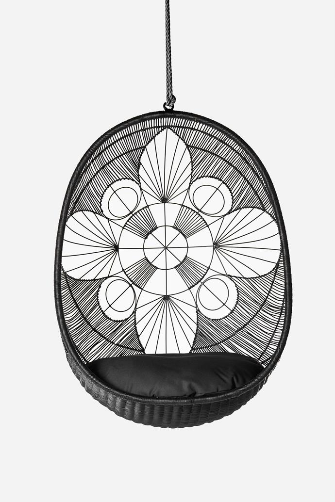 "Ankara Pod Chair, $879, [Zohi Interiors](https://zohiinteriors.com.au/ankara-pod-chair/|target=""_blank""|rel=""nofollow"")"