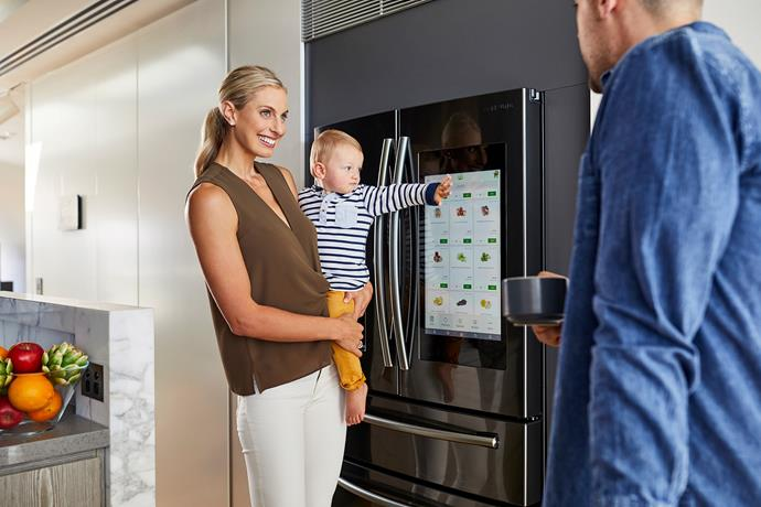 "**Samsung FamilyHub Fridge** Featuring the latest smarts, Samsung's FamilyHub Fridge is designed to make life, available at [Samsung](https://www.samsung.com/au/|target=""_blank""