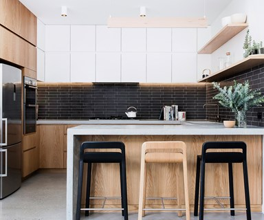 A modern extension paved the way for a new contemporary kitchen and bathroom
