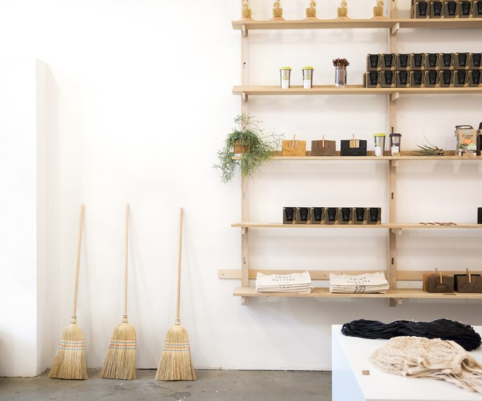 Zero-waste advocate Lauren Singer's Package Free pop-up shop in Brooklyn, New York.