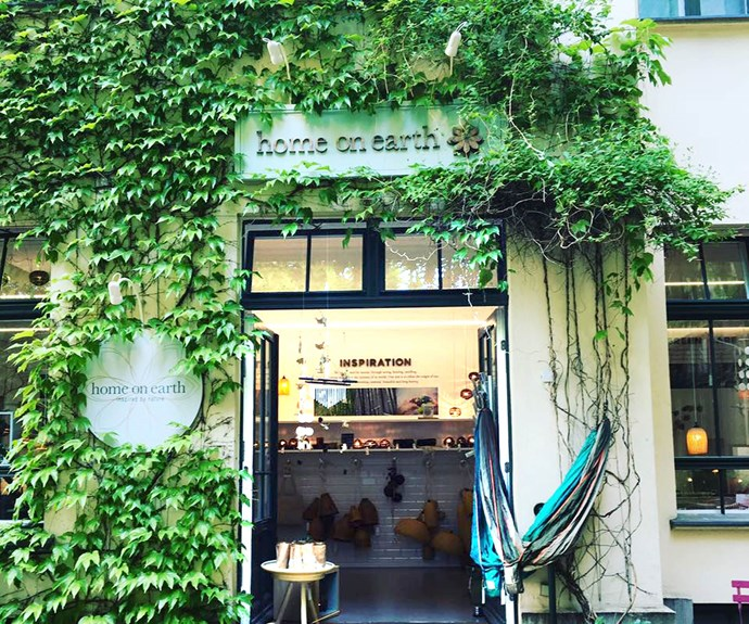 The leafy exterior of Home On Earth in Berlin's Mitte district.