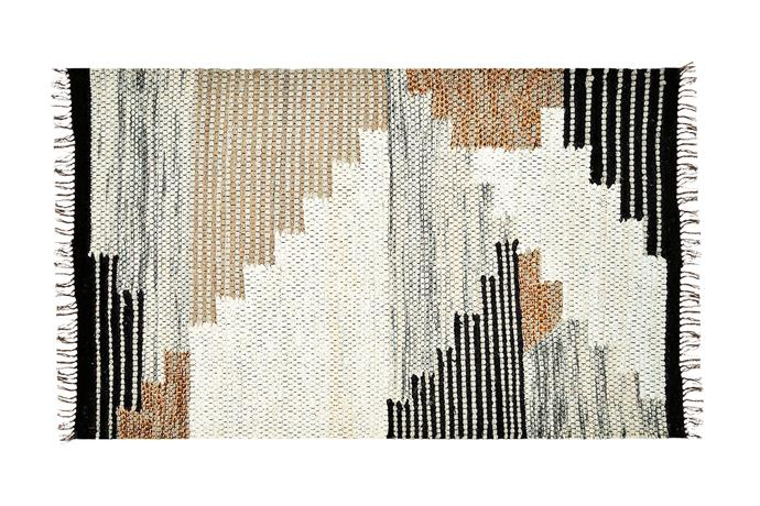 "**Underfoot** A wool rug in warm tones makes for a cosy landing underfoot. 'Colca' rug, $599/152cm x 244cm, [West Elm](http://www.westelm.com.au/|target=""_blank""