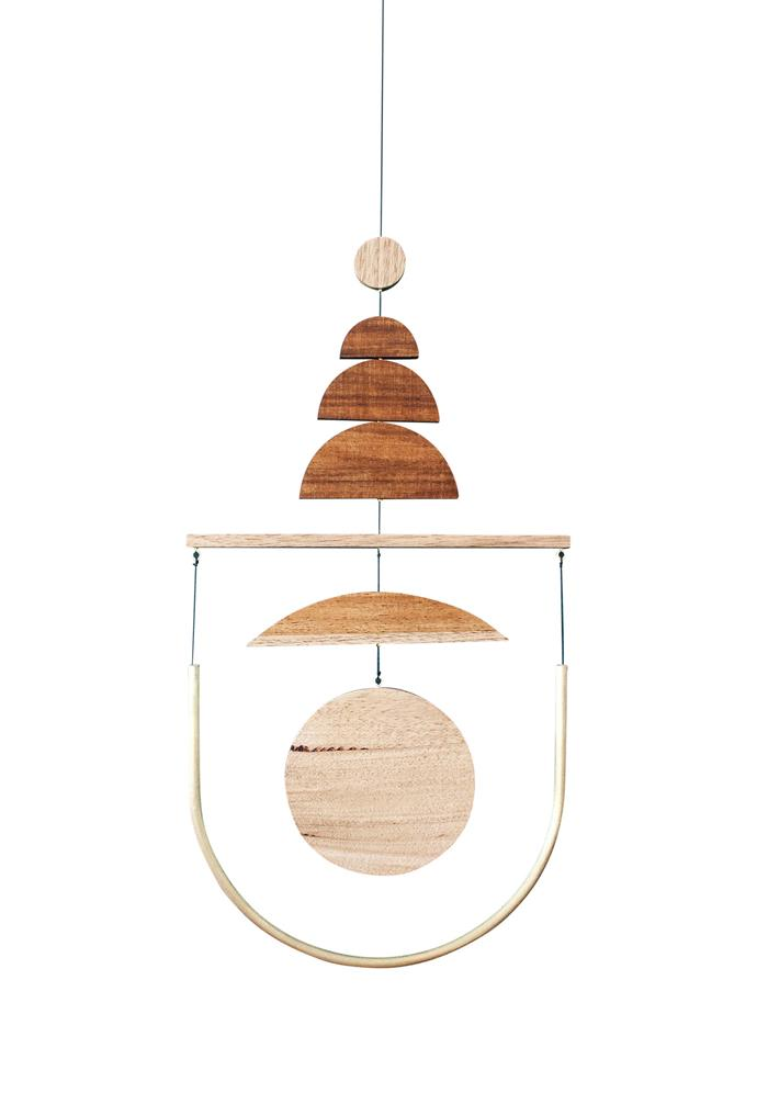 "**Make a statement** This mobile adds a rustic yet refined touch. 'The Totem' mobile, $590, [Fellows Mobiles](https://www.fellowsmobiles.com/|target=""_blank""
