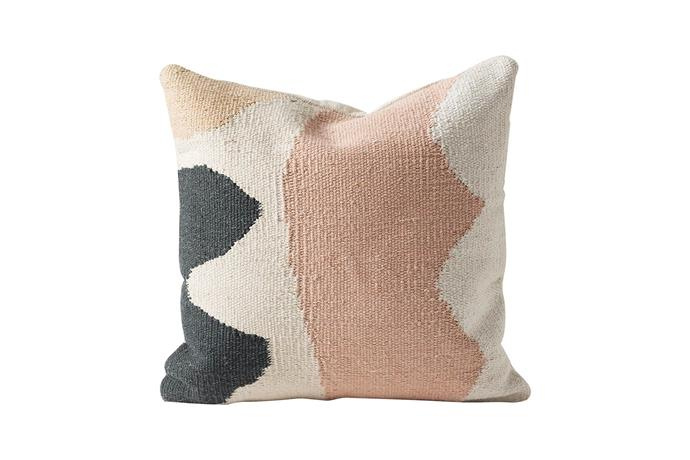 "**Textile and texture** Versatile colours and rich textures add depth to a room. 'Mural' cushion cover, $69.90, [Città](https://www.cittadesign.com/|target=""_blank""