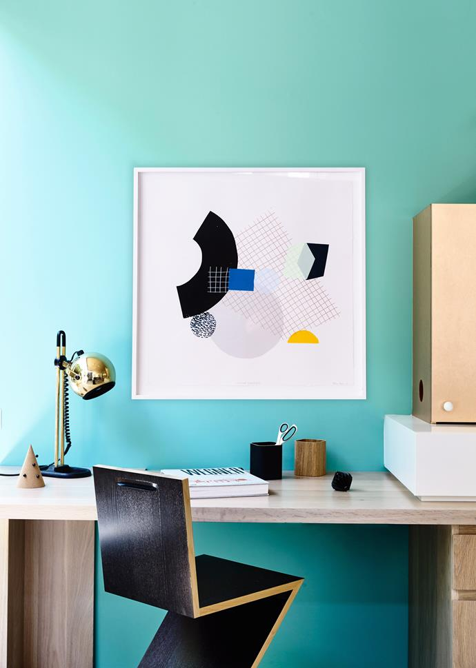 If you work from home, it's always best to have a room dedicated to your office. Style your workspace with uplifting art pieces. *Photo: Derek Swalwell / bauersyndication.com.au*