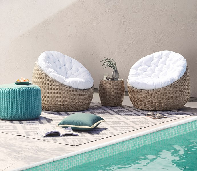 "[Pipon 3 piece tub chair package in wicker](https://www.domayne.com.au/promos/summer-alfresco?utm_source=Banner&utm_medium=Bauer&utm_campaign=summer_alfresco|target=""_blank""