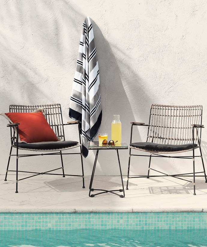"[Bowden 3-piece chat setting](https://www.domayne.com.au/promos/summer-alfresco?utm_source=Banner&utm_medium=Bauer&utm_campaign=summer_alfresco|target=""_blank""