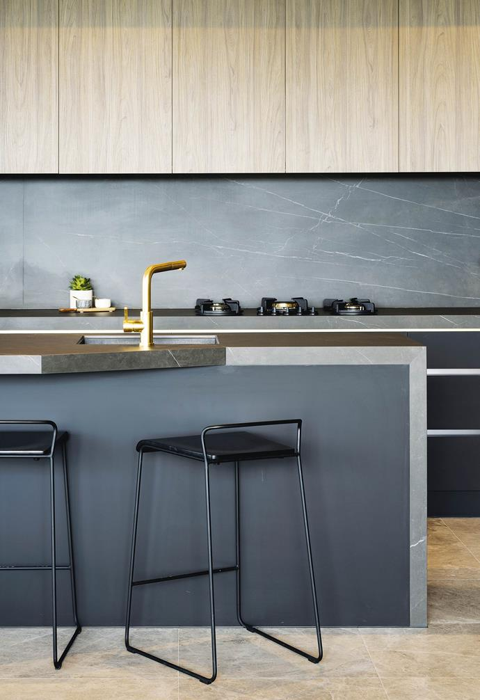 "'Maximum' Italian porcelain panels in Pietra Grey, available from [Artedomus](https://artedomus.com/|target=""_blank""