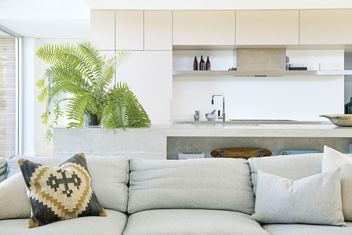 "Reserving pricier finishes such as concrete for an on-show space like the island bench can help with budgeting. *Photography: Jody D'arcy | Styling: Lisa Quinn-Schofield | Design: Malvina Stone, malvinastone@hotmail.com | Architecture: [Philippa Mowbray](http://philippamowbrayarchitects.com/|target=""_blank""