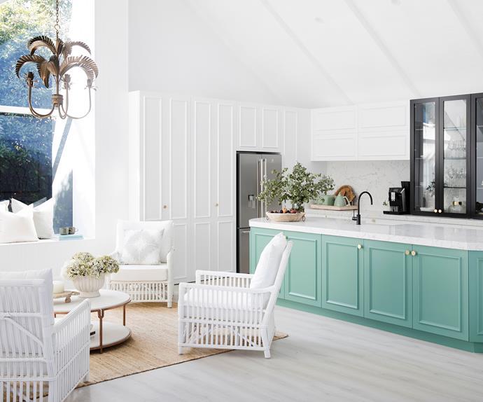 colourful kitchen island