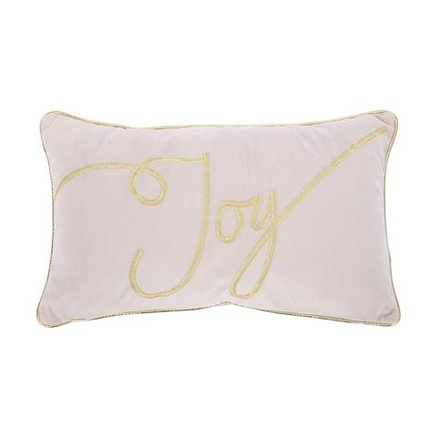 Blend your Christmas decor in seamlessly with this stylist pink velvet 'Joy' cushion. <br><br> Joy Xmas Cushion, $12