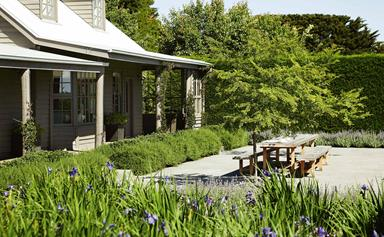 Shearers' quarters converted to elegant farmhouse in the Macedon Ranges