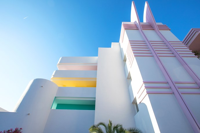 Miami meets the Mediterranean: Located in San Antonio on the Spanish island of Ibiza, a brand new Art Deco-inspired hotel is offering travellers a totally unique experience via pink interiors, gallery exhibitions and exposure to international artists.