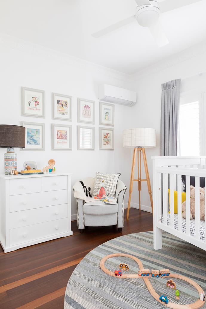 Holly chose a gender-neutral theme for Fletcher's nursery.