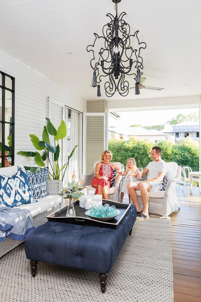 The breezy design and beautiful decor of this outdoor room means it is a versatile and much-used space.