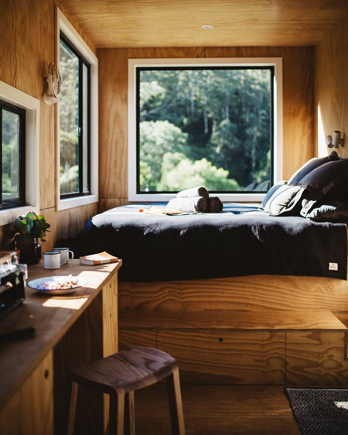 "Every cabin has a comfy Koala mattress and pillows dressed in linen from In Bed and [Pony Rider](https://www.ponyrider.com.au/|target=""_blank""