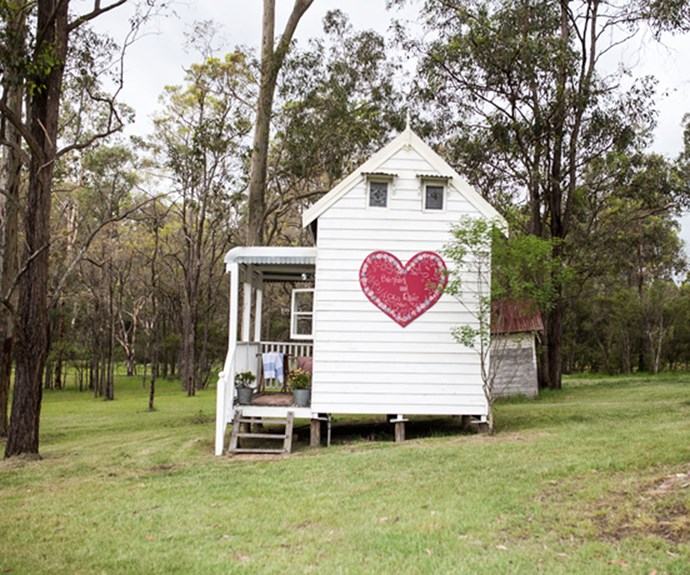 """The painted heart was a wedding gift from my Mum - if you look closely you can see my name, Brenton's name and the date of our wedding."" Image courtesy of [Hunter Hunter](http://www.hunterhunter.com.au/