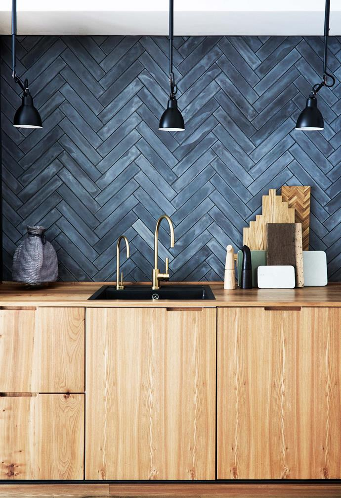 """**Timber tones** New [door fronts](https://www.homestolove.com.au/kitchen-cabinet-door-styles-7021