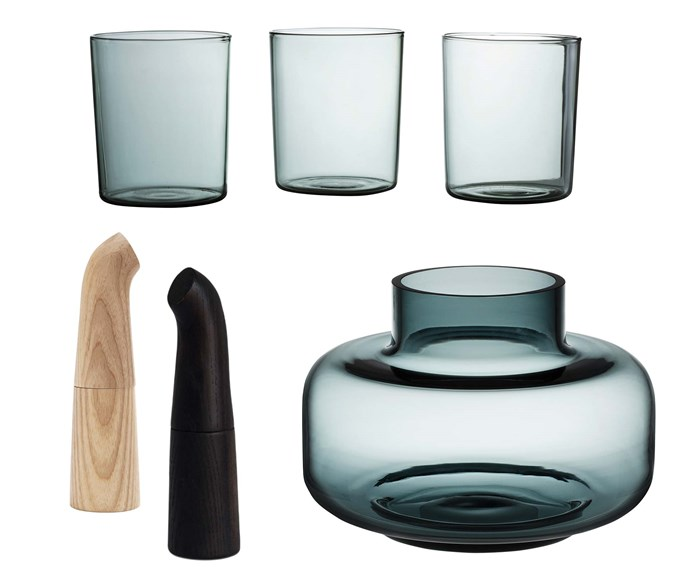 """**Key design details** The perfect finishing touches for this understated space are accessories in quiet materials like glass and timber. **Get the look** Gobelets in Smoke, $59/set of 4, [Maison Balzac](https://www.maisonbalzac.com/