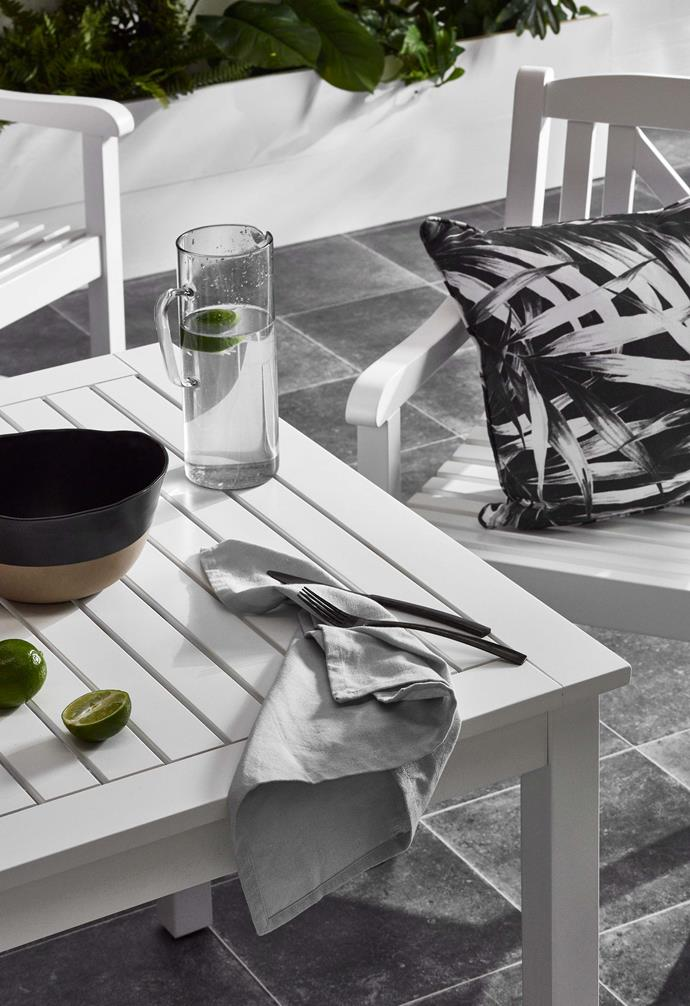 "**Keep it simple** When outdoor entertaining, less is more. Restrained styling will give you less to clean up after having the guests over. *Images courtesy of [Temple and Webster](https://www.templeandwebster.com.au/|target=""_blank""