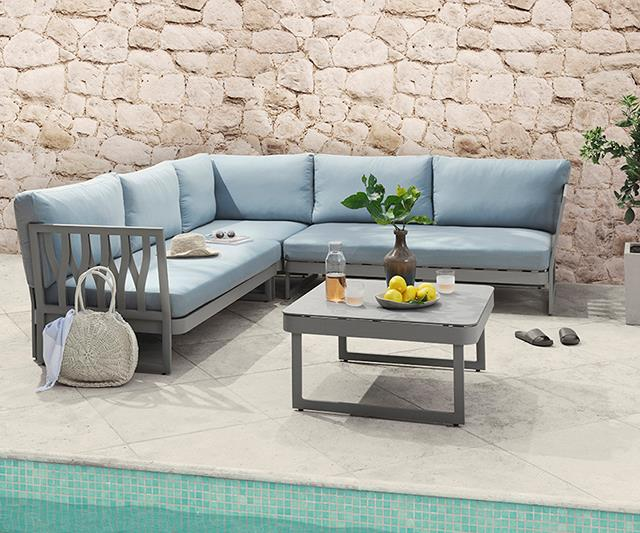 Poolside outdoor furniture