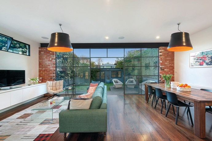 "Floor-to-ceiling steel framed windows mean that the open plan living and dining room is flooded with natural light and maintains a connection to the outdoor entertaining space. *Image courtesy of [Domain](https://www.domain.com.au/133-argyle-street-st-kilda-vic-3182-2014676263|target=""_blank""