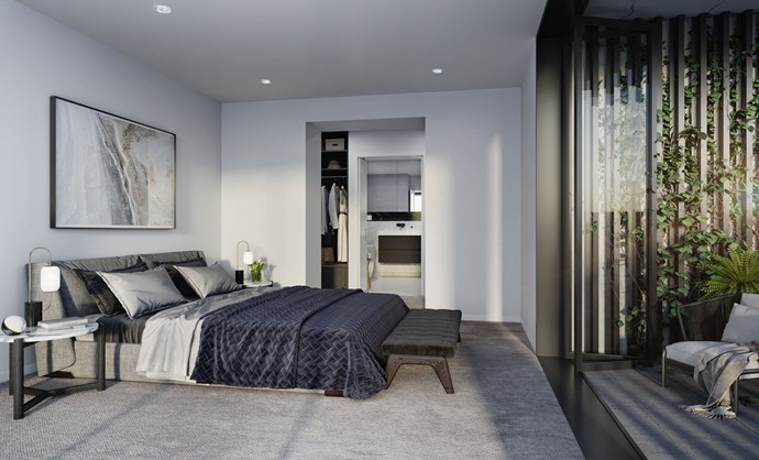 What a typical master suite in the CV Windsor luxury apartment complex is expected to look like. *Image courtesy of Domain*