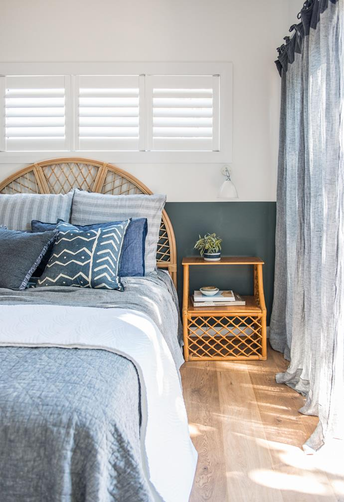 **Sweet dreams** Kyal and Kara recommend starting with the bedroom so you'll have a space space to retreat to after a long day.