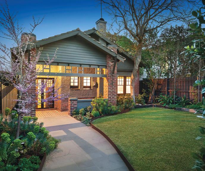 California Bungalow home exterior in St Kilda, Victoria