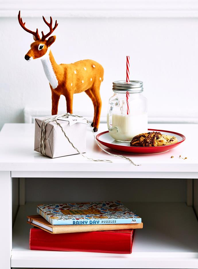 Make a list of all the provisions you can offer your guests, including milk and cookies — for the guest that's scheduled to arrive on Christmas Eve. | *Photography: Scott Hawkins/bauersyndication.com.au*