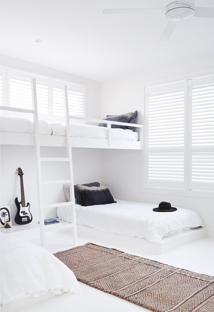 """**Boys' bedroom** Charcoal pillowslips and a tribal [Tigmi Trading](https://tigmitrading.com/