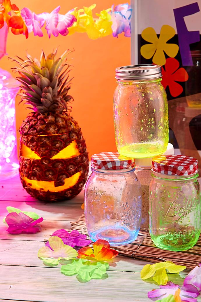 Pineapple Jack-o-lanterns put a tropical spin on Halloween celebrations.