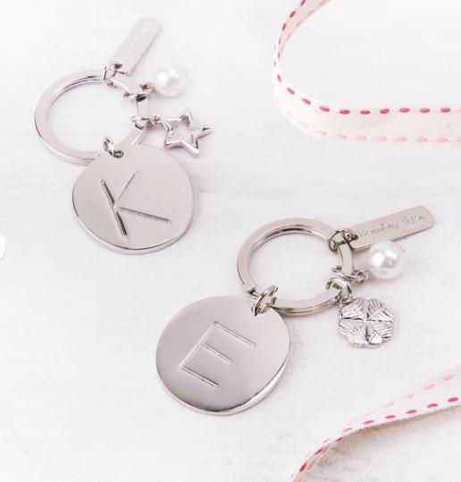 """Lucky charm alphabet keyring, $46 each, [Hard To Find](https://www.hardtofind.com.au/120597_lucky-charm-alphabet-keyring