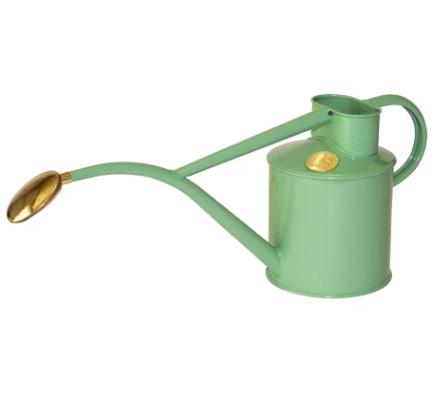 """Haws indoor 1 litre **watering can** in sage, $122, from [Hard to Find](https://fave.co/2zeZK7V