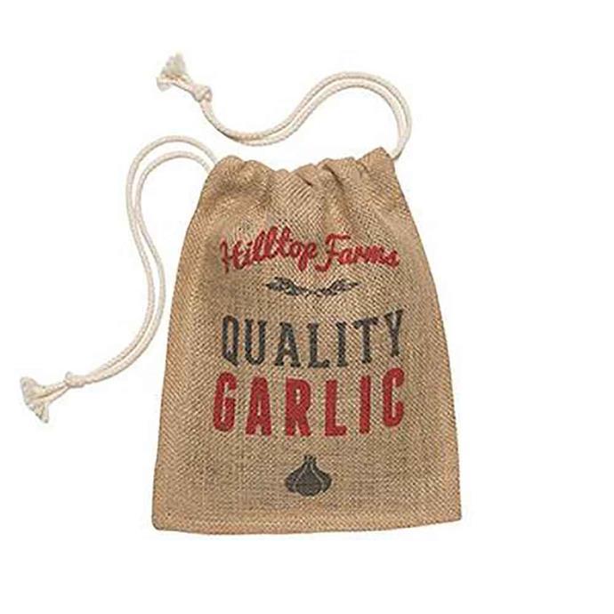 "Retro kitchen **garlic produce sack**, $12.95, from [Flora & Fauna](https://fave.co/2zeqi9t|target=""_blank""|rel=""nofollow"")."