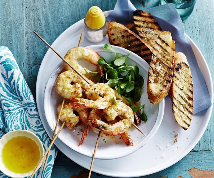"[Grilled prawns with lemon grass and lime](https://www.womensweeklyfood.com.au/recipes/grilled-prawns-with-lemon-grass-and-lime-29504|target=""_blank""): Start off with a festive crowdpleaser - deliciously fresh grilled prawns."