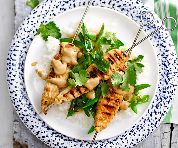 "[Chicken satay skewers](https://www.womensweeklyfood.com.au/recipes/peanut-free-satay-chicken-skewers-28692|target=""_blank""): Those with allergies won't need need to miss out on their satay fix, because these tasty skewers are nut-free."