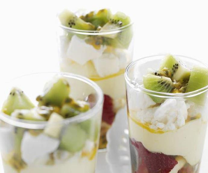 "[Pavlova trifles](https://www.womensweeklyfood.com.au/recipes/pavlova-trifles-5557|target=""_blank""): These can be made ahead of time and stored in jars."