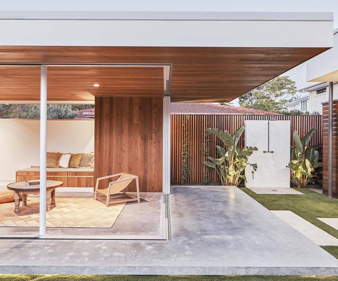 **Studio** Glass sliding doors allow the space to connect seamlessly with the outdoors.