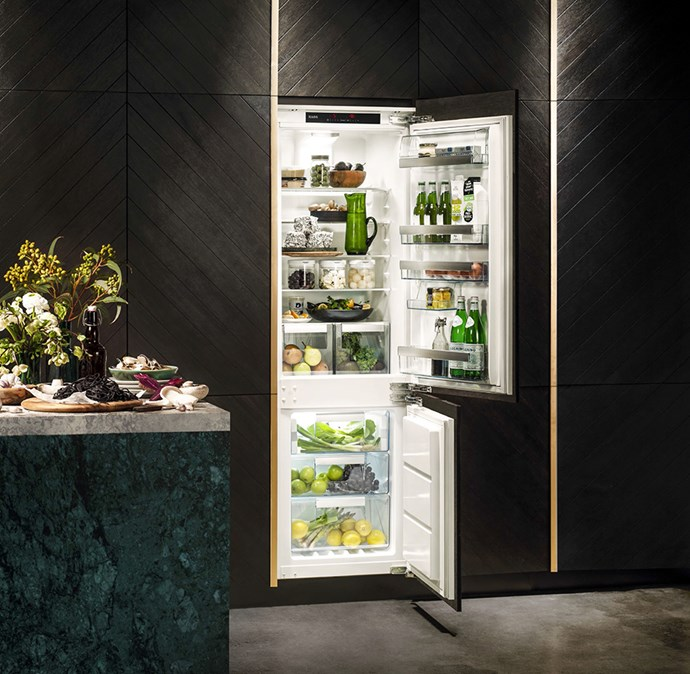 Convenience and flexibility is achieved with the AEG Integrated Family Fridge, boasting a seamless stylish look too. *Image / supplied*