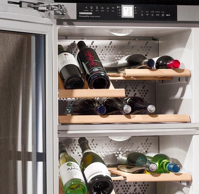 The inbuilt wine cellar holds up to 41 bottles, and with two separate cooling zones you can perfectly store any bottle without compromising its integrity. *Image / supplied*