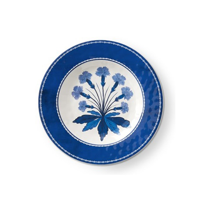 "Aerin 'Fairfield' melamine salad plate, $18, from [Williams-Sonoma](http://www.williams-sonoma.com.au/aerin-fairfield-salad-plates?quantity=1&attribute_1=Blue%20Rim%20%26%20Blue%20Flower|target=""_blank""