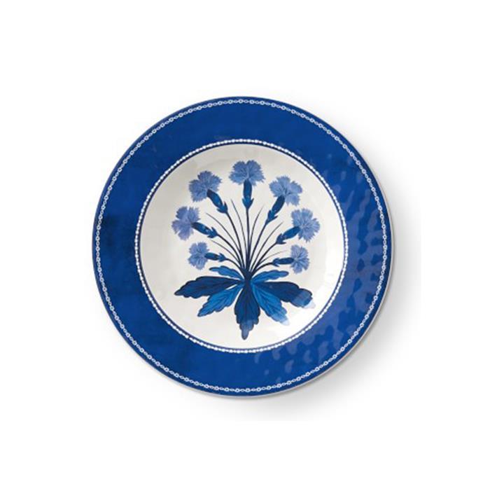 "Aerin 'Fairfield' melamine salad plate, $18, from [Williams-Sonoma](http://www.williams-sonoma.com.au/aerin-fairfield-salad-plates?quantity=1&attribute_1=Blue%20Rim%20%26%20Blue%20Flower|target=""_blank""|rel=""nofollow"")."