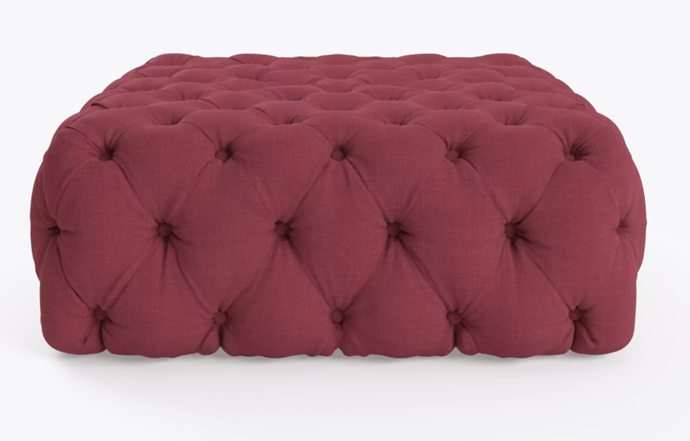 """'Lena' square **ottoman** in Rosewood, $529, from [Brosa](https://fave.co/2P0MPRL