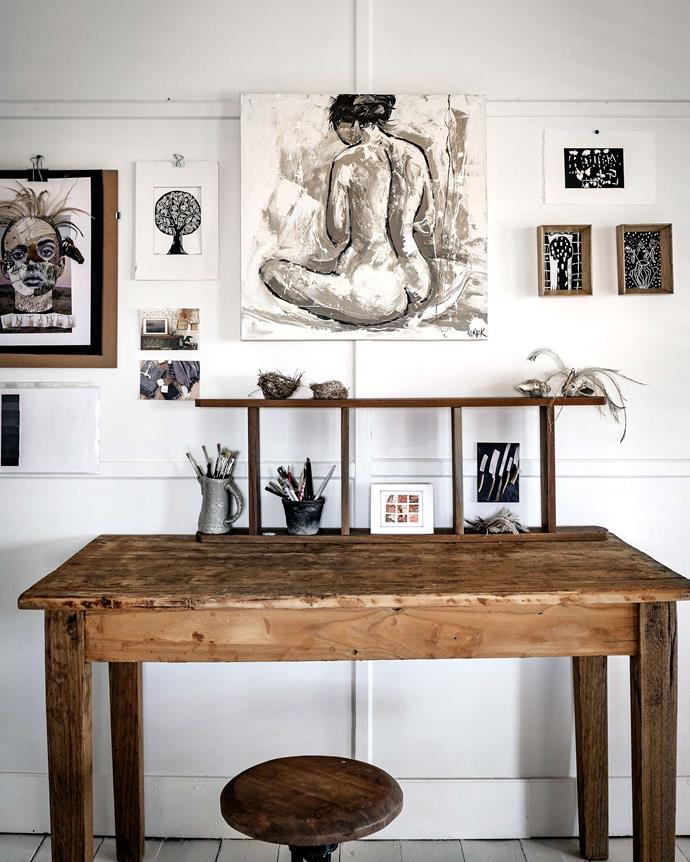 Zanna's studio is a trove of collected wares and art.